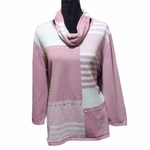 Alfred Dunner 3/4 SleeveSweater w/Detachable Scarf